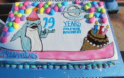 """Por Aniversario, Dolphin Discovery """"apapacha"""" a los locales"""