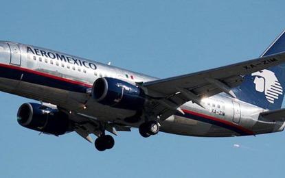 Aumenta Aeroméxico 18.8 por ciento transporte de pasajeros