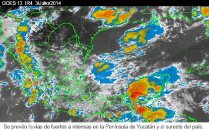 Remanentes de Elida y Douglas generarán más lluvias en las región