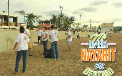 Ya son 13 grupos en la Red de Limpieza de Playas de Riviera Nayarit