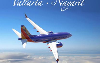 Anuncia Southwest Airlines nuevo vuelo hacia la región Vallarta-Nayarit