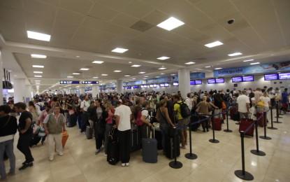 Reporta el INM aumento en llegadas aéreas internacionales