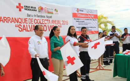 Arrancó la Colecta Anual 2015 de Cruz Roja en Bahía de Banderas
