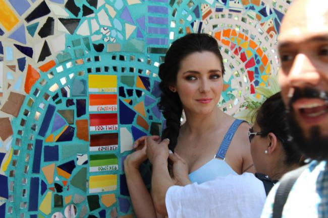 Ariadne Díaz fue fotografiada en algunos atractivos de la llamada Zona Romántica.