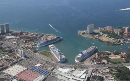 Arribarán 7 cruceros esta semana a Puerto Vallarta