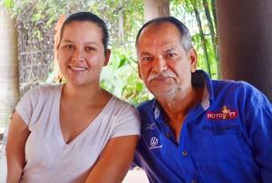 """Juan Luis """"Gilo"""" Díaz y su hija, María Elena Díaz Castellón. (Foto: Rodolfo Preciado)."""