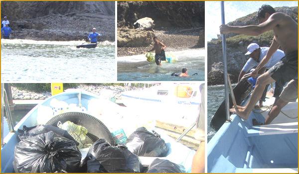 La  limpieza eventualmente incluirá actividad de buceo para  limpiar también el lecho marino ya que una de las principales actividades del área es el buceo y snorkel.