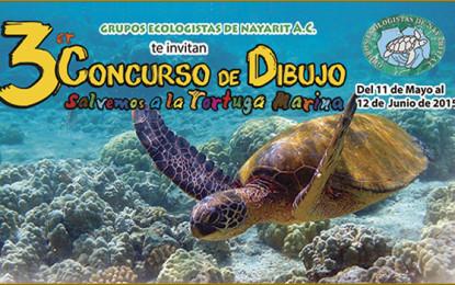 Convocan al 3er. Concurso de Dibujo Salvemos a la Tortuga Marina