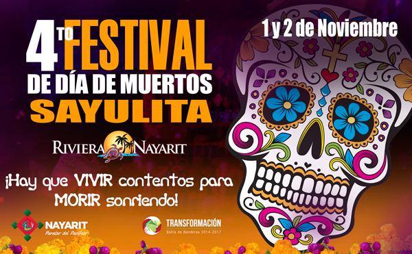 En Sayulita habrá premios para los mejores altares de muertos, un gran programa cultural y artístico, fiesta y la tradicional caminata nocturna desde la plaza hacia el panteón.