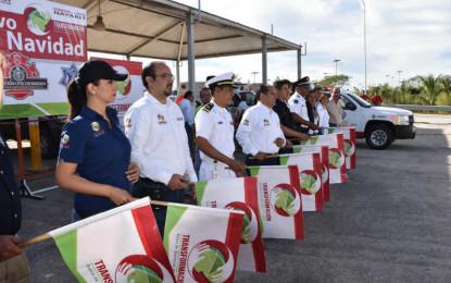 """Inicia operativo de seguridad """"Blanca Navidad"""" en Bahía"""