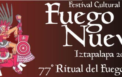 Preservan tradición con Festival Cultural del Fuego Nuevo