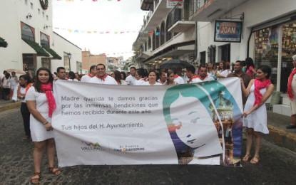 Presente Ayuntamiento de PV en las peregrinaciones guadalupanas