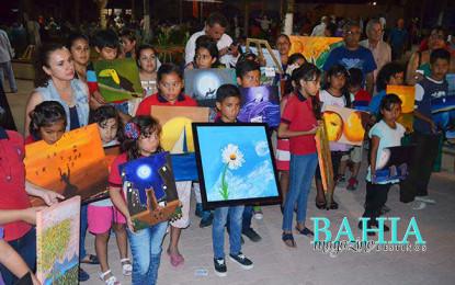 Presenta Impulsarte muestra pictórica en la plaza de Guayabitos