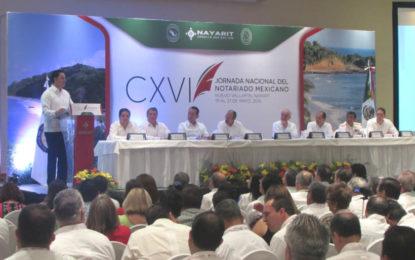 Inauguran la CXVI Jornada Nacional del Notariado Mexicano en Riviera Nayarit