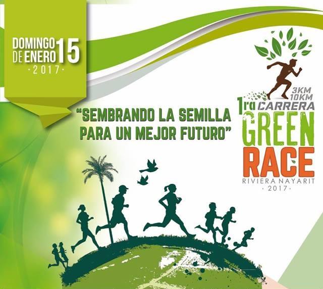 Invitan a la 1ª Green Race 3K & 10K Riviera Nayarit 2017
