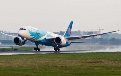 Aerolínea china inaugura vuelo a México