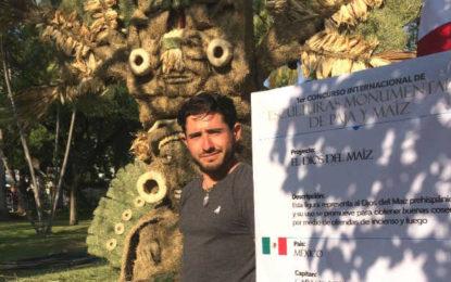 Con escultura de arena proyectan a PV en concurso internacional