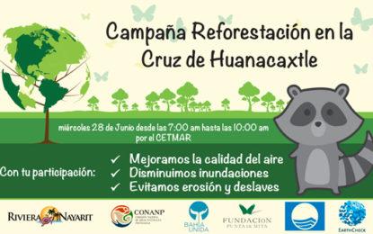 Invitan a campaña de reforestación en La Cruz de Huanacaxtle