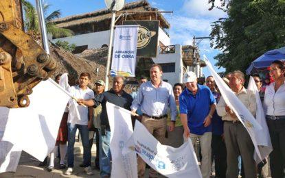 Reconstrucción de drenaje en centro de Sayulita