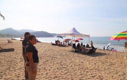 Saldo Blanco en Playas en área de Protección Civil Municipal de Bahía de Banderas