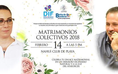"Próximo 14 de Febrero, ""Matrimonios Colectivos"" en Nahui"
