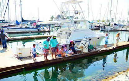 Disfrutan más de 500 niños en el 4to. Torneo de Pesca Infantil Riviera Nayarit