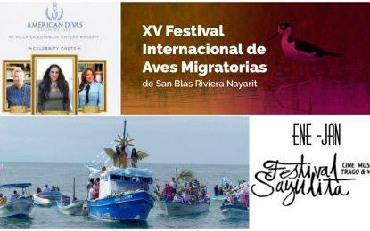 Enero de 2019 será un mes de intensa actividad en la Riviera Nayarit