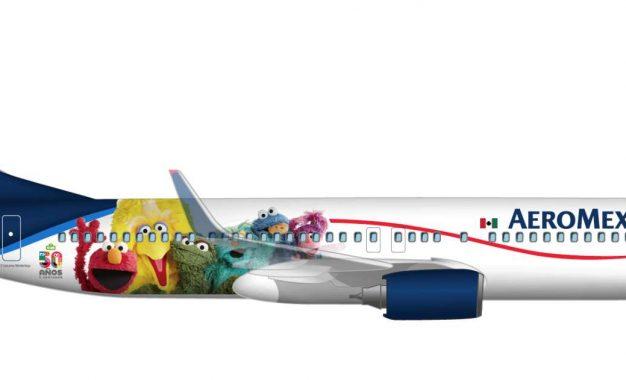 Sésamo crea alianza con  Aeroméxico en sus 50 aniversario